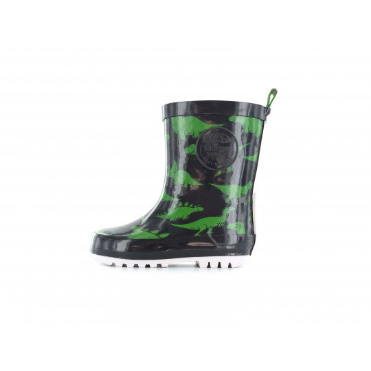 Shoesme blue with green dino-print Wellington boots
