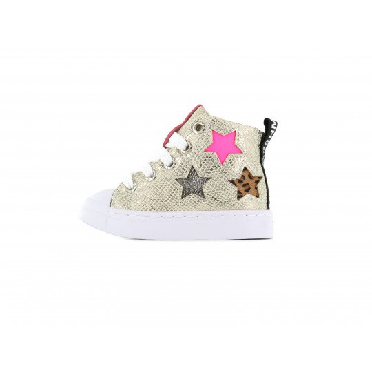 Shoesme Sneakers pink with all over flower print