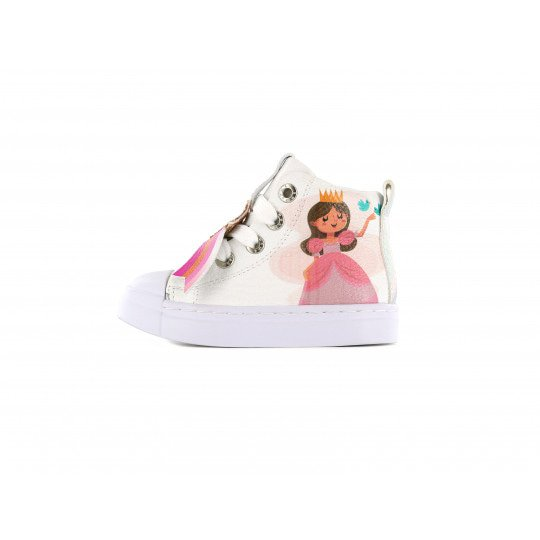 Shoesme Sneakers white with all over flower print