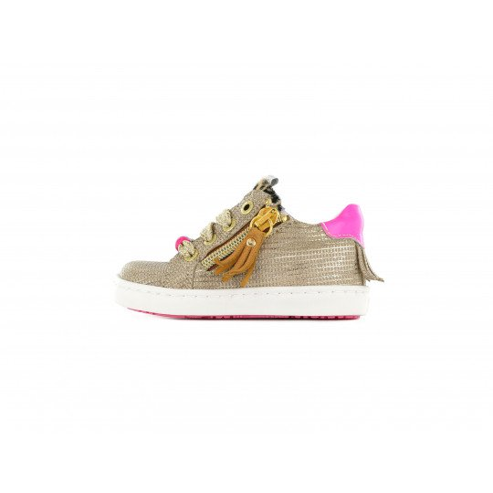 Shoesme low sneakers white with all over flower print