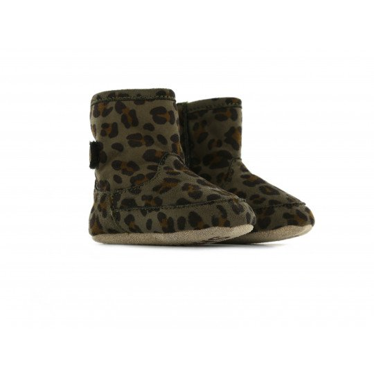 Shoesme  baby crib boots green leopard