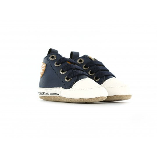 Shoesme Crib Sneaker in navy blue