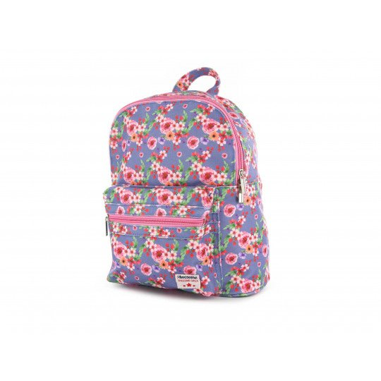 Shoesme blue backpack with all over flower print