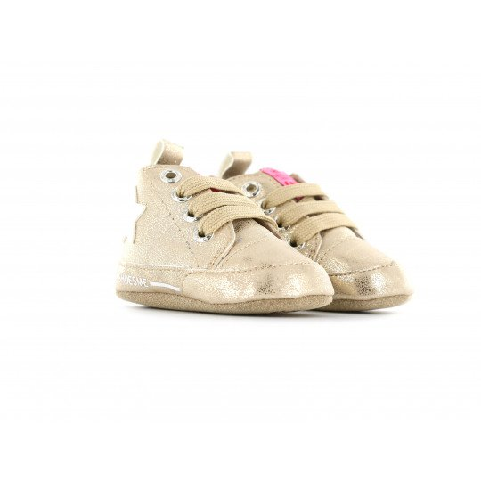 Shoesme Crib Sneaker in a champagne colour