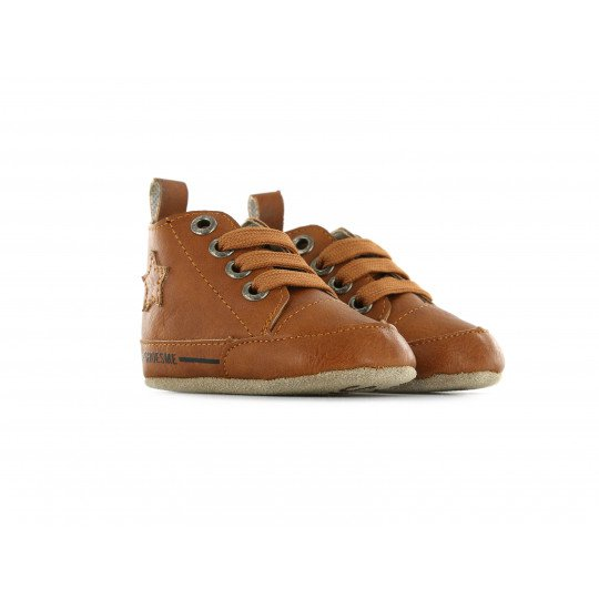 Shoesme Crib Shoe in cognac with warm lining