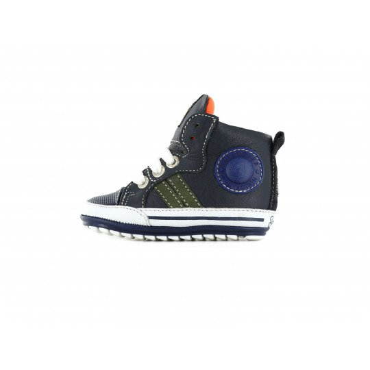 Shoesme High-Top Baby Sneaker in navy blue