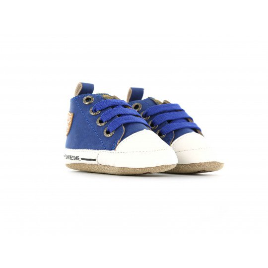 Shoesme Crib Sneaker in cobalt blue