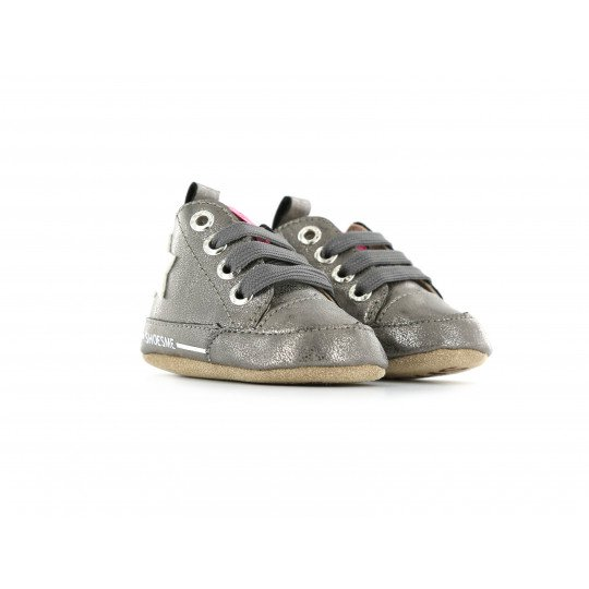 Shoesme Crib Sneaker in old silver